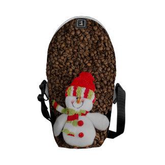 Christmas snowman decoration commuter bag