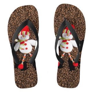 Christmas snowman decoration flip flops