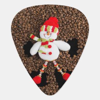 Christmas snowman decoration guitar pick