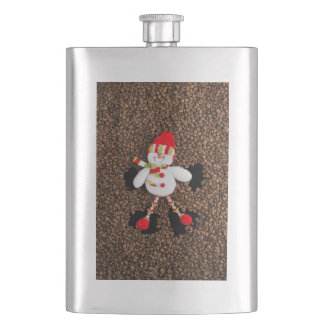 Christmas snowman decoration hip flask
