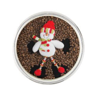 Christmas snowman decoration lapel pin