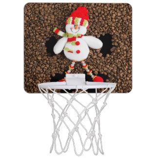 Christmas snowman decoration mini basketball hoop