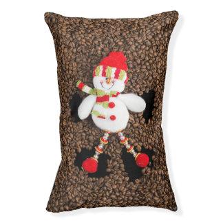Christmas snowman decoration pet bed