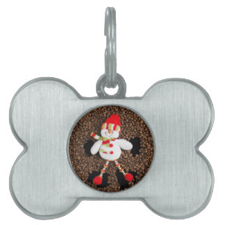 Christmas snowman decoration pet name tag