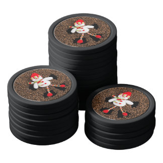 Christmas snowman decoration poker chips