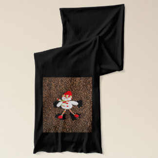 Christmas snowman decoration scarf