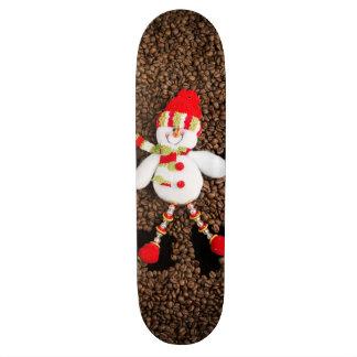Christmas snowman decoration skateboard deck