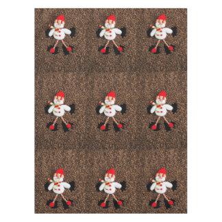 Christmas snowman decoration tablecloth