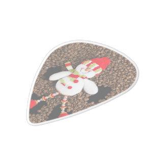 Christmas snowman decoration white delrin guitar pick