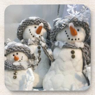 Christmas snowman drink coaster