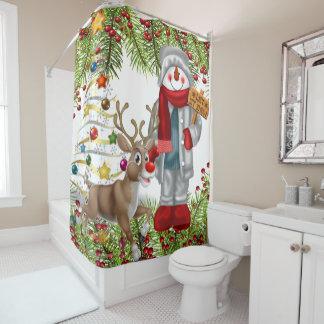 christmas snowman festive bathroom decoration