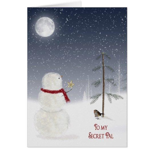 Christmas Snowman for Secret Pal Card