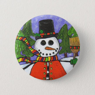 Christmas Snowman - Holiday Magic button