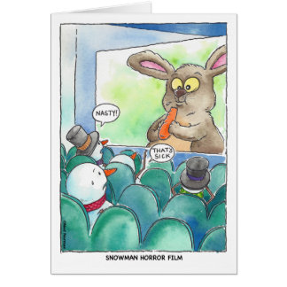 Christmas:  Snowman Horror Film Card