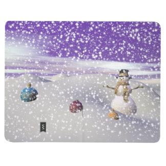 christmas snowman journal