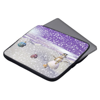 christmas snowman laptop sleeve