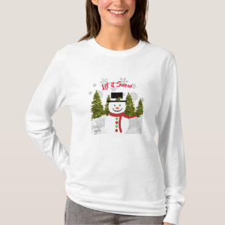 Christmas Snowman / Let it Snow T-Shirt