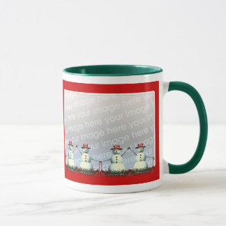 Christmas Snowman Line 2-Photo Frame Mug