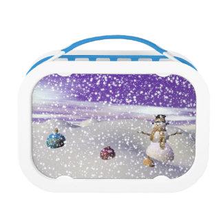christmas snowman lunch box