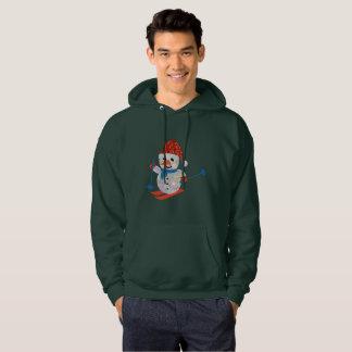 christmas snowman mens hoodie hooded sweatshirt