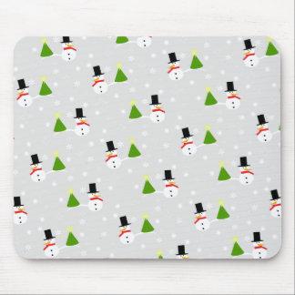 Christmas Snowman Mouse Pad