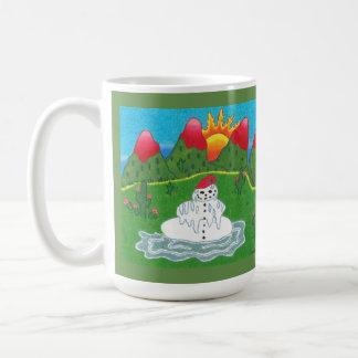 Christmas snowman mug