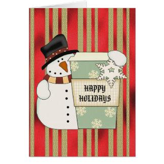 Christmas Snowman mug card