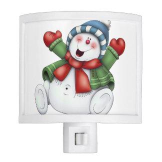 Christmas Snowman Night Light