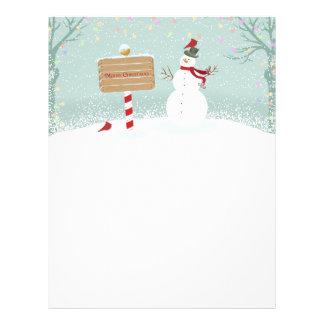 Christmas Snowman North Pole Letterhead