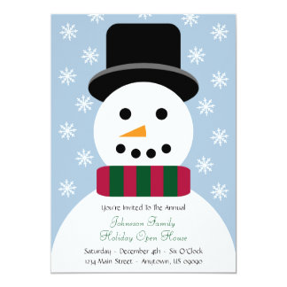 Christmas Snowman Open House Invitation