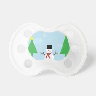 Christmas Snowman Pacifier
