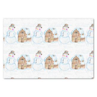 Christmas Snowman Pattern Tissue Paper