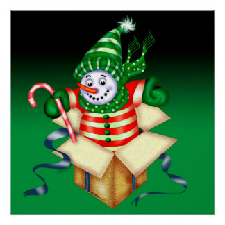 CHRISTMAS SNOWMAN Perfect Poster Glossy Finish