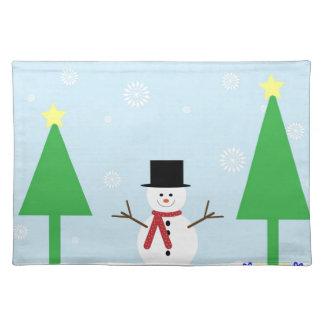 Christmas Snowman Placemat