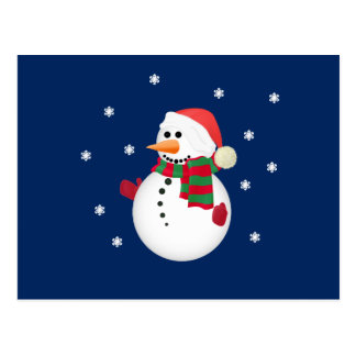 Christmas Snowman Post Cards