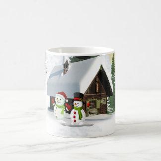 Christmas Snowman Scene Coffee Mug