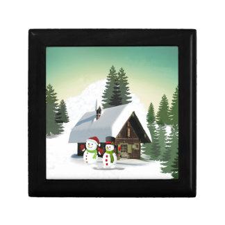 Christmas Snowman Scene Gift Box