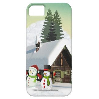 Christmas Snowman Scene iPhone 5 Covers