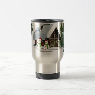Christmas Snowman Scene Travel Mug
