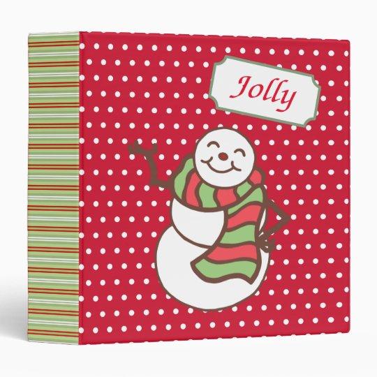 Christmas Snowman Scrapbook Binder
