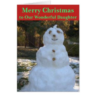 Christmas Snowman Seashell Daughter Card