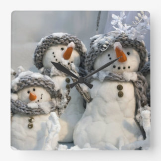 Christmas snowman wall clock