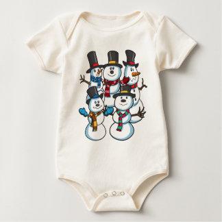 Christmas Snowmen Baby Bodysuit