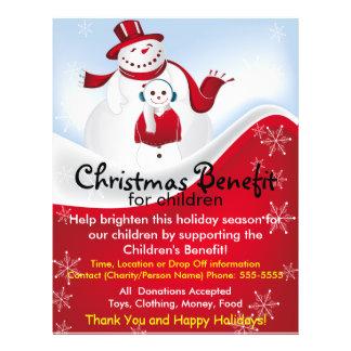Christmas Snowmen Benefit for Children Flyer