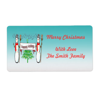 Christmas - Snowmen, Happy Holidays Gift Tags