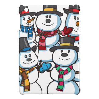 Christmas Snowmen iPad Mini Cover