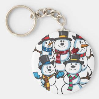 Christmas Snowmen Keychain