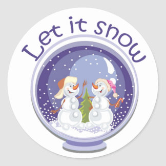 christmas snowmen snowglobe Stickers