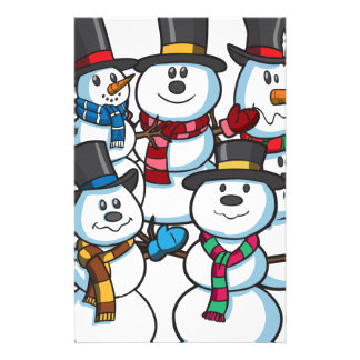 Christmas Snowmen Stationery Design