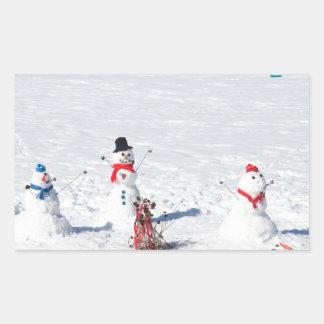 Christmas Snowmen Sticker